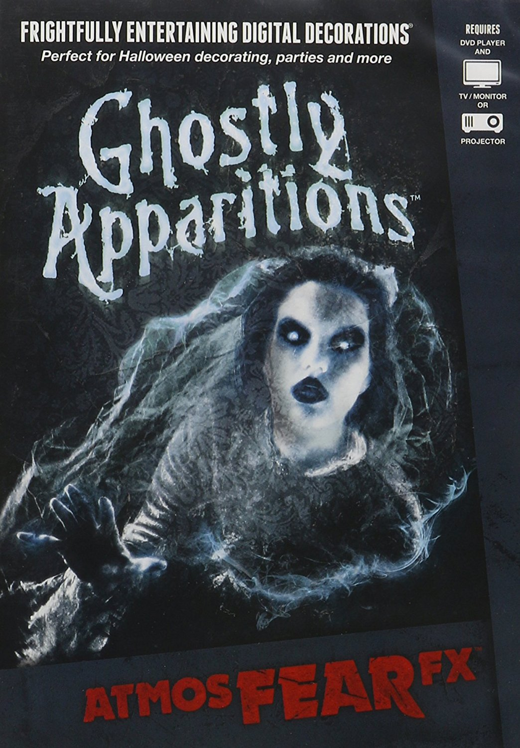 AtmosFX Ghostly Apparitions Digital Decorations DVD for Halloween Holiday Projection Decorating  – Available in DVD, SD Card and Digital Download Format