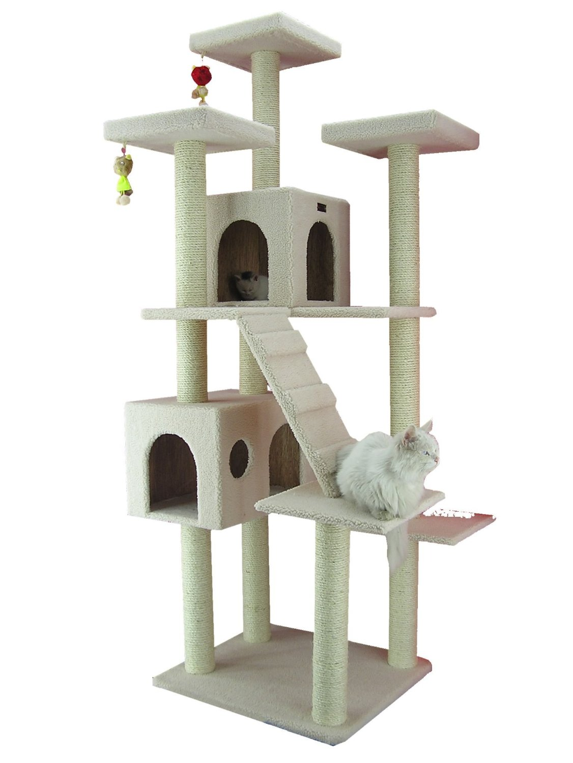 The Armarkat Classic Cat Tree House with Multiple Perches
