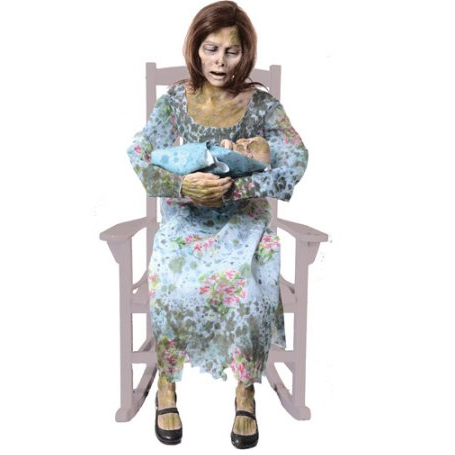 Morris Life-Size Rocking Moldy Mommy Halloween Prop