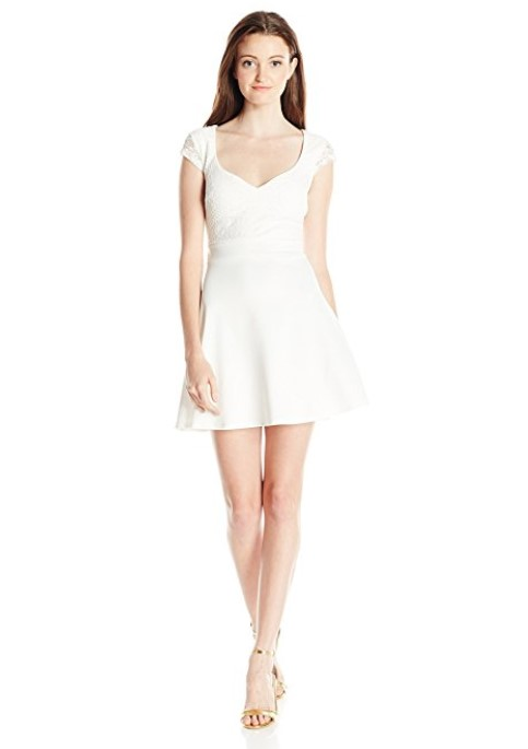 Trixxi Junior's Lace Skater Dress