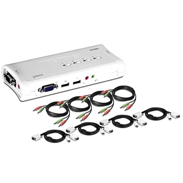 TRENDnet 4-Port USB KVM Switch Kit