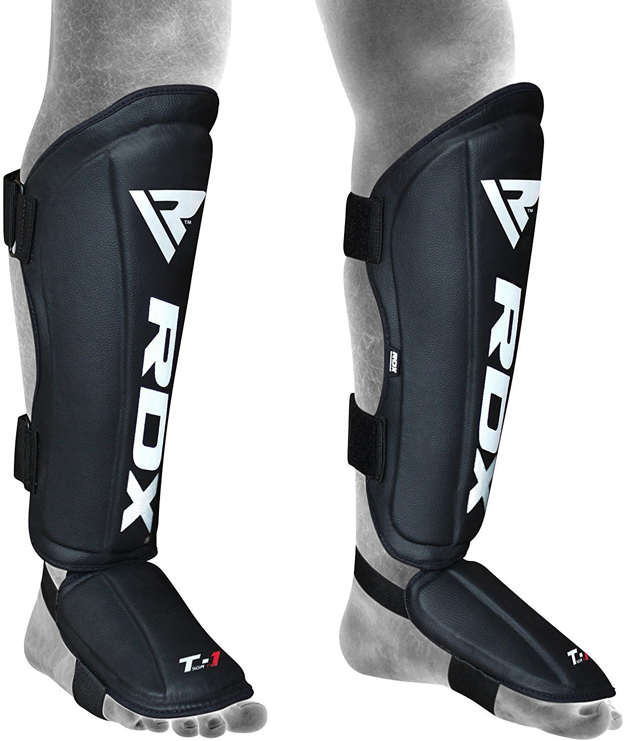 RDX Leather MMA Shin Guards Protector