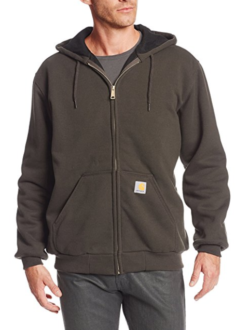 Carrhart Rain Defender Rutland Thermal-Lined Hooded Zip-front Sweatshirt – Available in Multiple Sizes & Colors