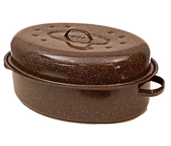 Granite Ware Covered Oval Roaster