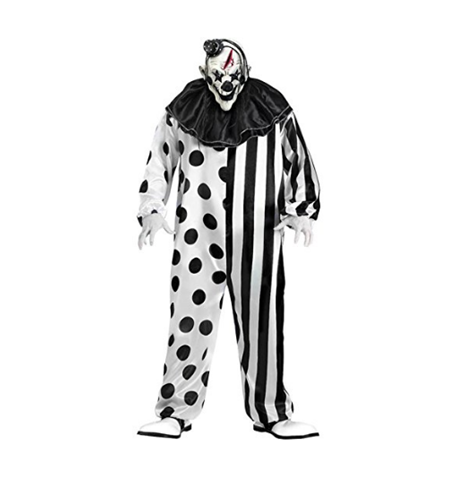 Fun World Killer Scary Clown Complete Halloween Costume for Men or Women - Just One Of Many Scary Costume Choices