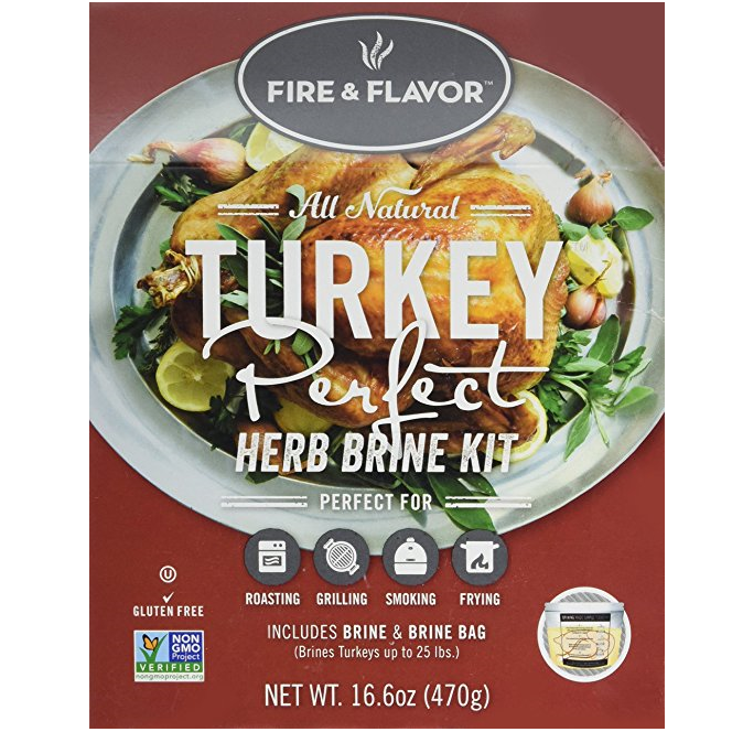 Fire and Flavor Turkey Perfect Herb Brine Kit