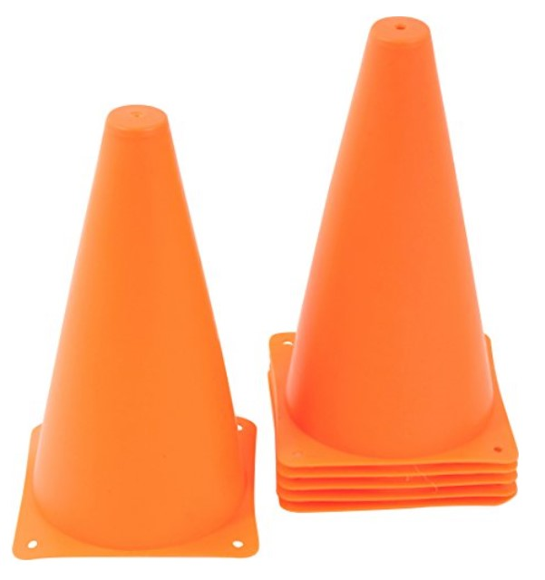 Trademark Innovations 9-Inch Plastic Cones – Available in 2 Colors & 2 Pack Sizes