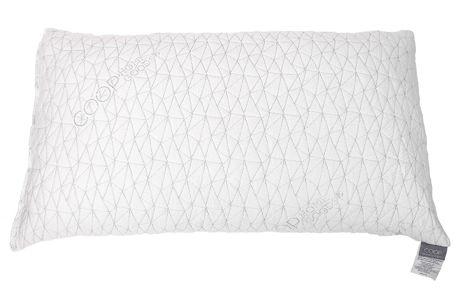 Coop Home Goods Adjustable Shredded Memory Foam Pillow – With Viscose Rayon Cover Derived from Bamboo, Removable Cover