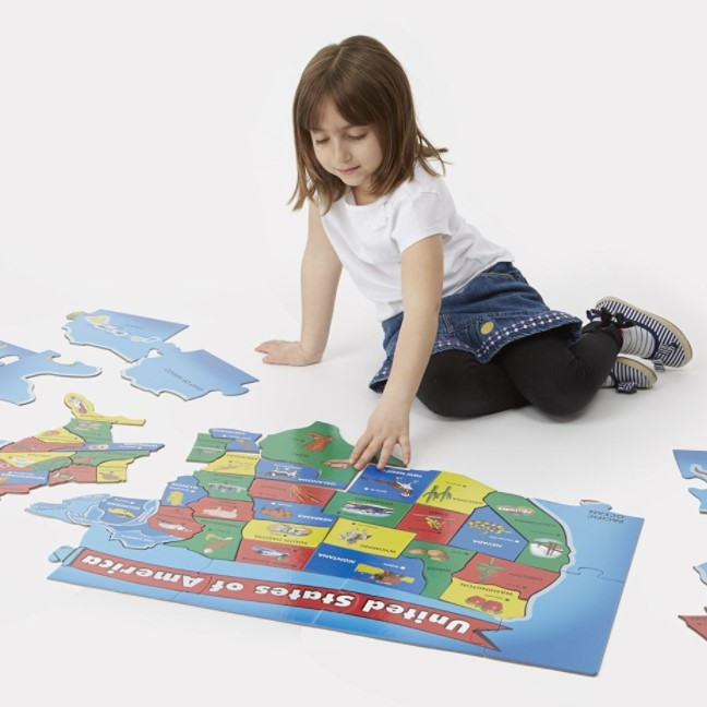 Melissa and Doug United States Map Floor Puzzle