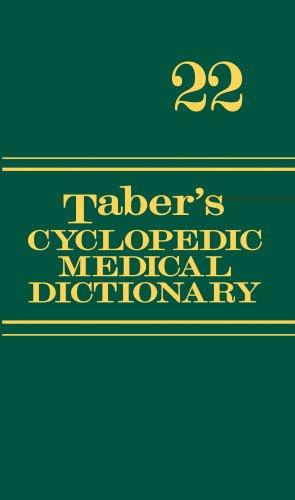 Donald Venes Taber's Cyclopedic Medical Dictionary (Thumb Index Version), 23rd Edition – Available in Kindle and Hardcover