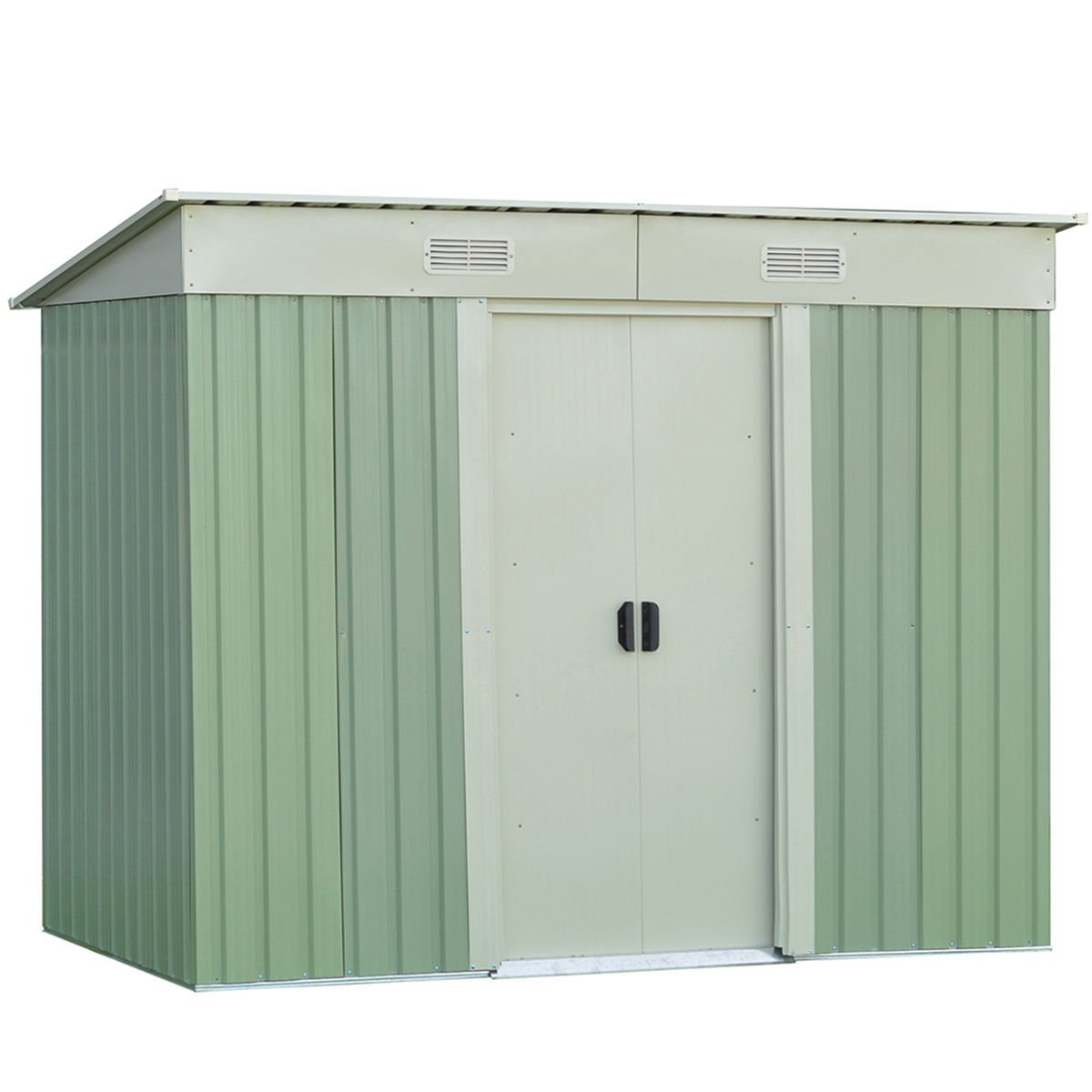 Goplus Galvanized Steel Storage Shed