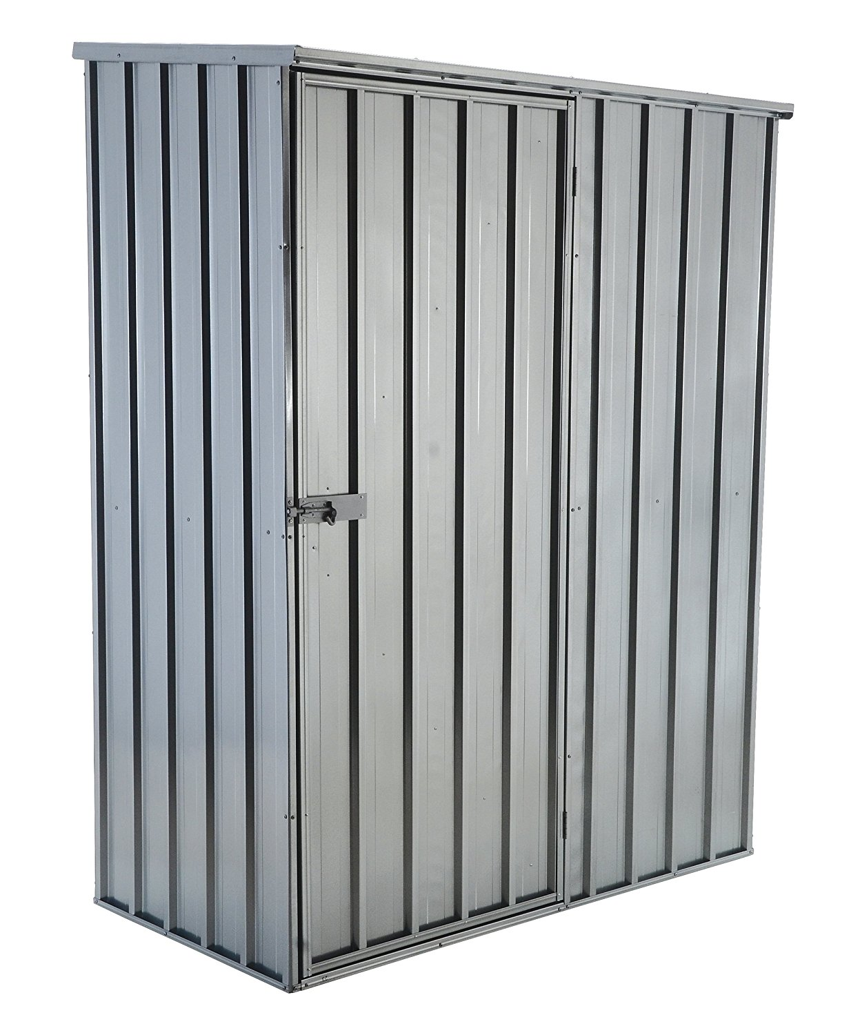 Vestil Steel Storage Shed with Flat Roof