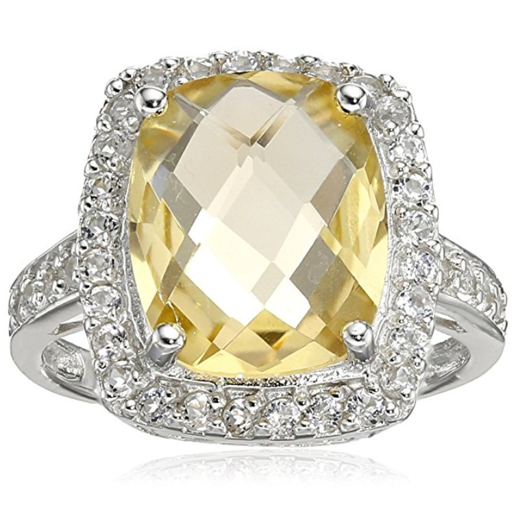 Amazon Collection Sterling Silver Topaz Ring