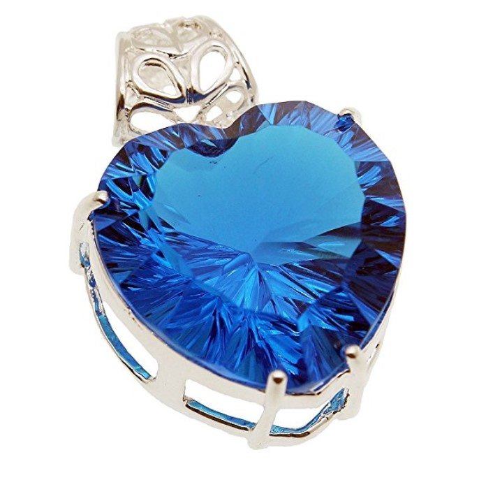 Hermosa Blue Topaz 925 Sterling Silver Pendant