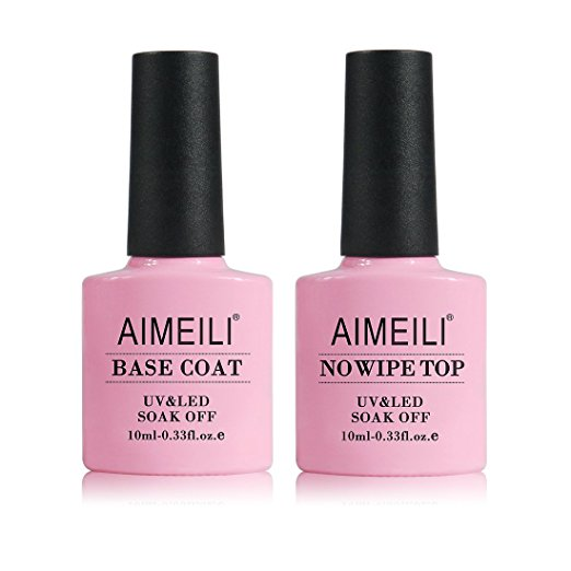 AIMEILI Base And No Wipe Top Coat Kit