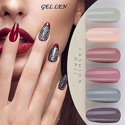 Gellen 6-Piece Gel Nail Polish Set