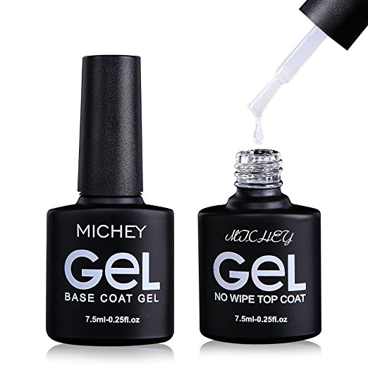 MIYOUNE Gel Nail Polish Base and Top Coat Set