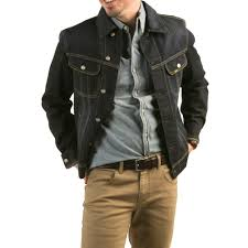 Lee Men's Denim Jacket with Button Closure