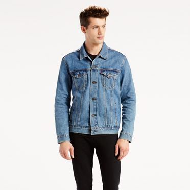 Levi's Men's Faux-Shearling Trucker Jacket with Button Closure – Available in 5 Colors & 7 Sizes