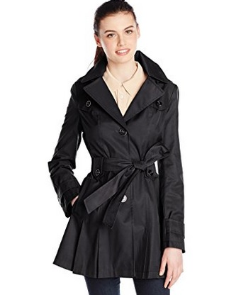Via Spiga Women's Single-Breasted Trench Coat – Available in 4 Colors and 5 Sizes
