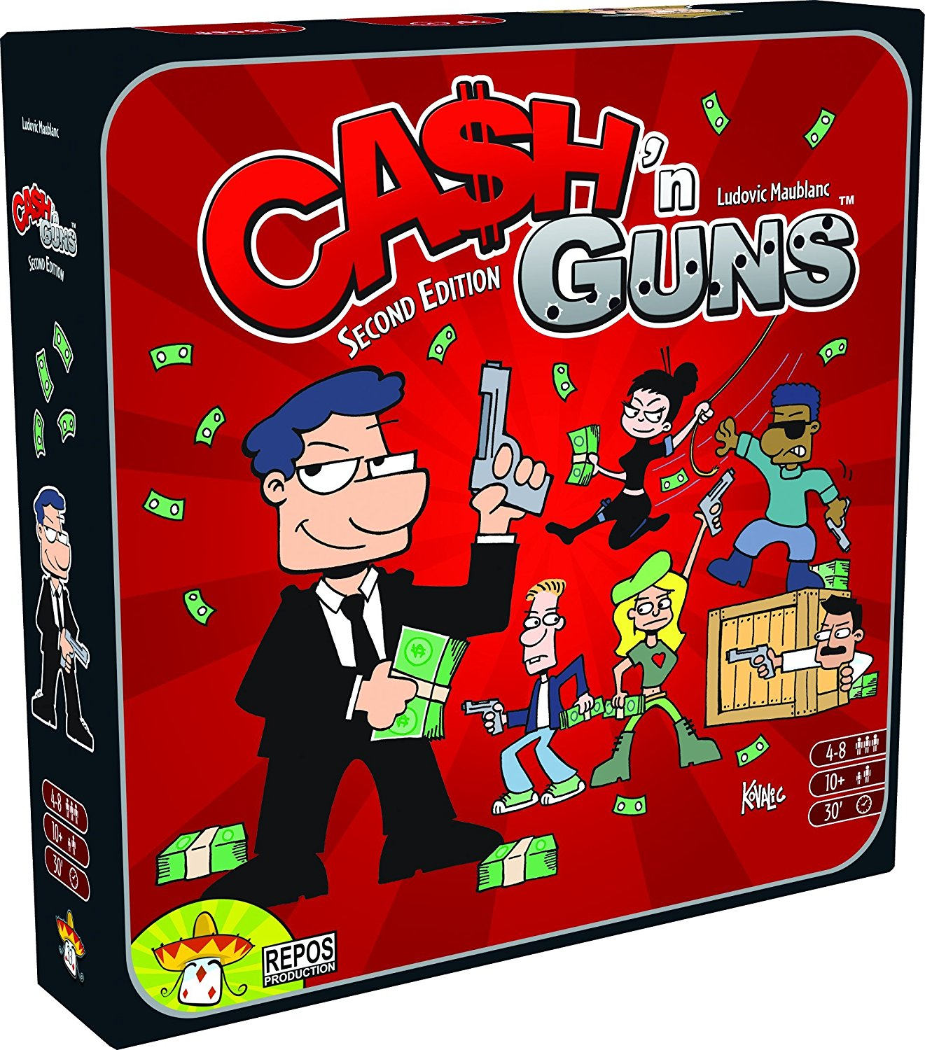 Asmodee Cash N Guns RPG Game