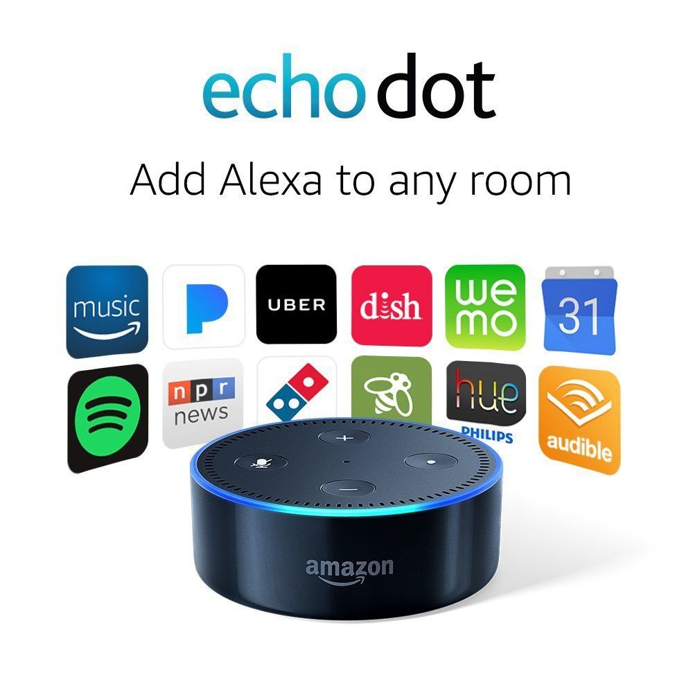 Amazon 2nd Generation Echo Dot — Available in Black or White