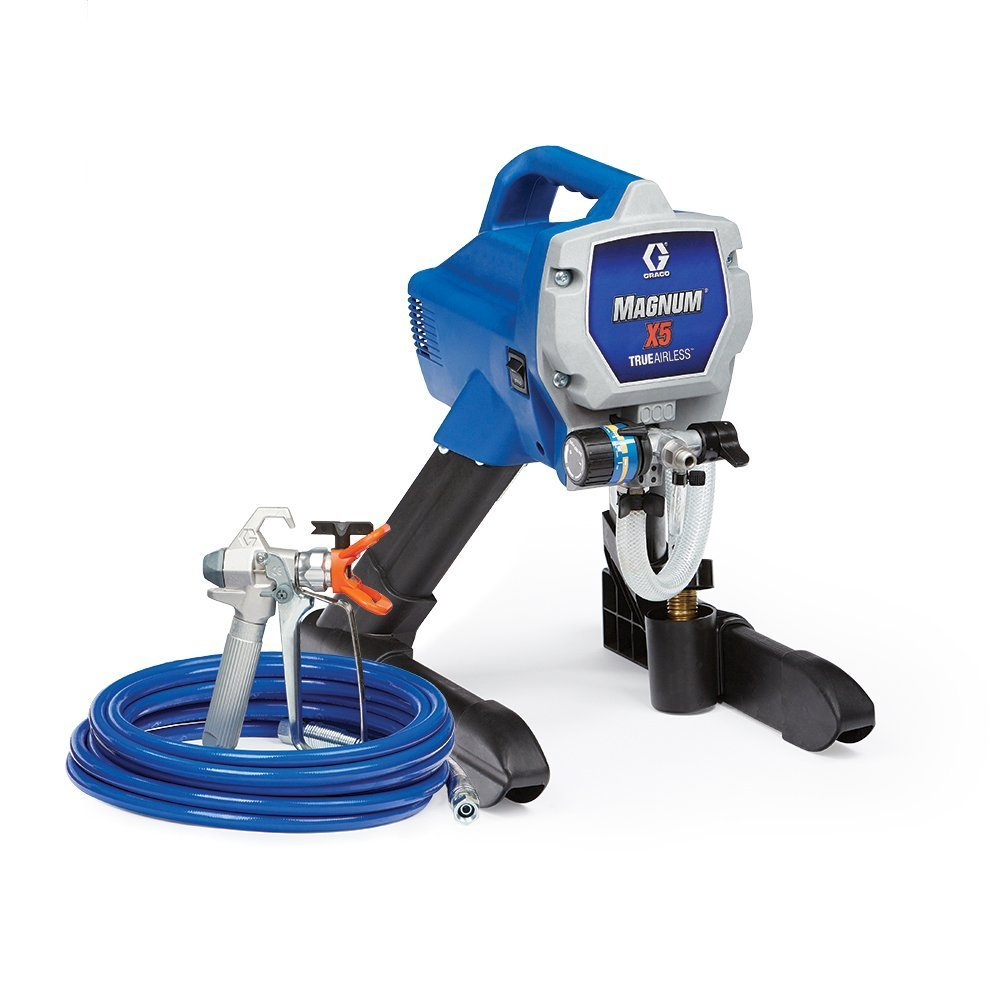 Graco Magnum X5 Stand Airless Paint Sprayer – Adjustable Pressure, Stainless Steel Piston Pump, 75' Hose