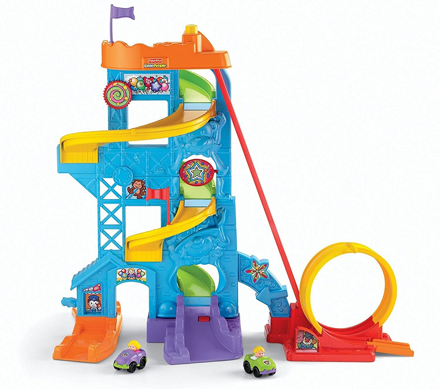 Fisher-Price Loops 'n Swoops Amusement Park Playset – Available in 2 Package Options