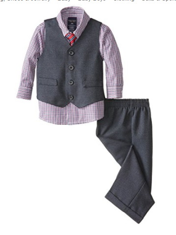 Nautica Baby Boy's 4-Piece Dress Vest Set