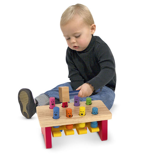 Melissa & Doug Deluxe Pounding Bench Toddler Toy