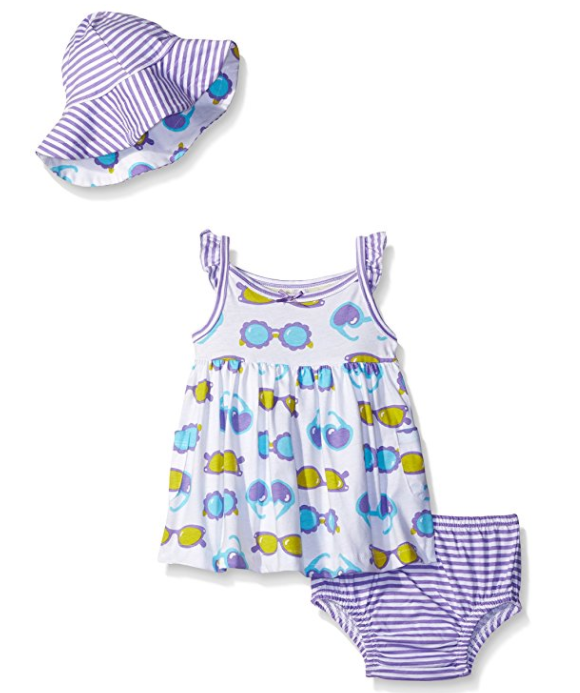 Gerber Toddler Girls 3-Piece Dress Set