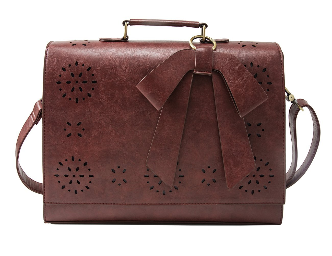 ECOSUSI Vintage Faux Leather Briefcase