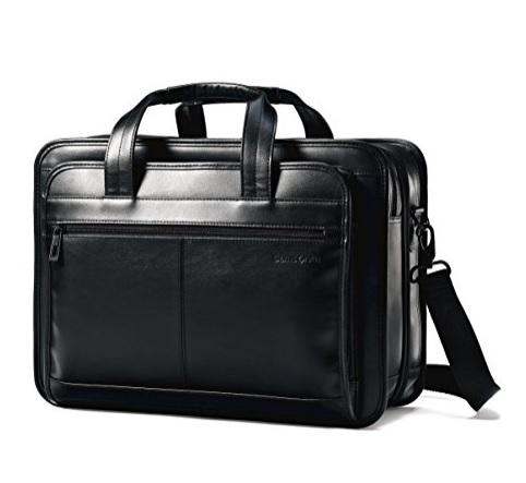 "Samsonite Messenger Bag - Made from Leather, Can Hold Laptops Up to 15.6"", Hand Washable"