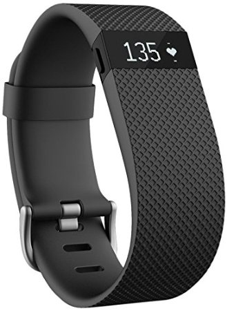 Fitbit Charge HR Monitor – Wristband, Fitness Stats Tracker, Smartphone Compatible, Several Color and Size Options