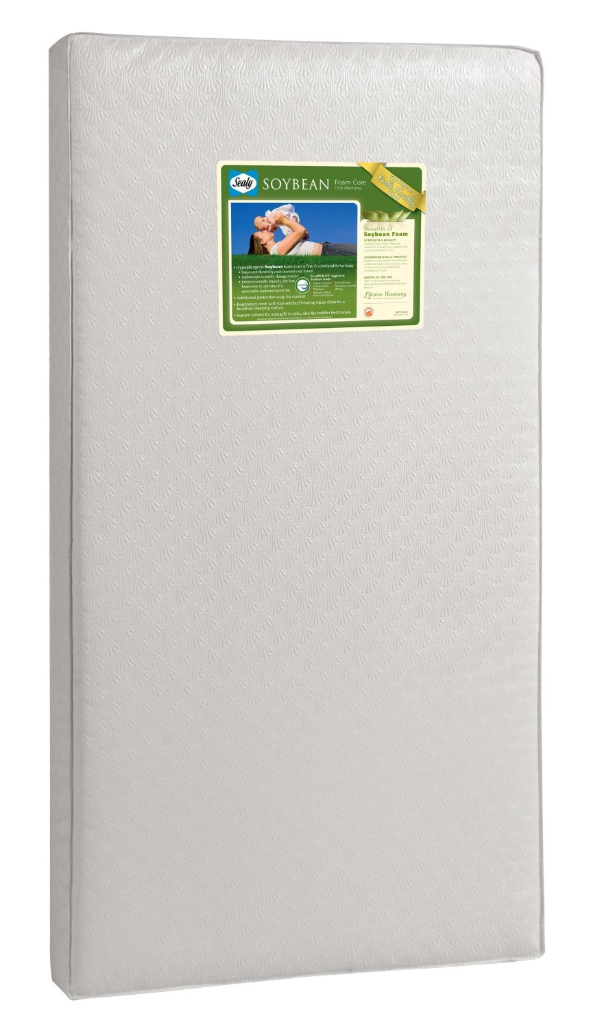 Sealy Soybean Waterproof Crib Mattress
