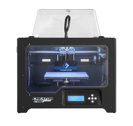 FlashForge Creator Pro with Metal Frame Structure and ABS/PLA Compatibility for 3D Printing