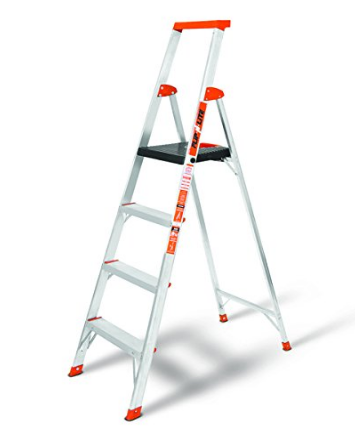 Little Giant Ladder Systems Flip-N-Lite, 300-Pound Duty Rating Stepladder with Platform - Available in 3 Heights