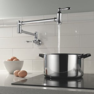 Delta Wall Mount Pot Filler Kitchen Faucet