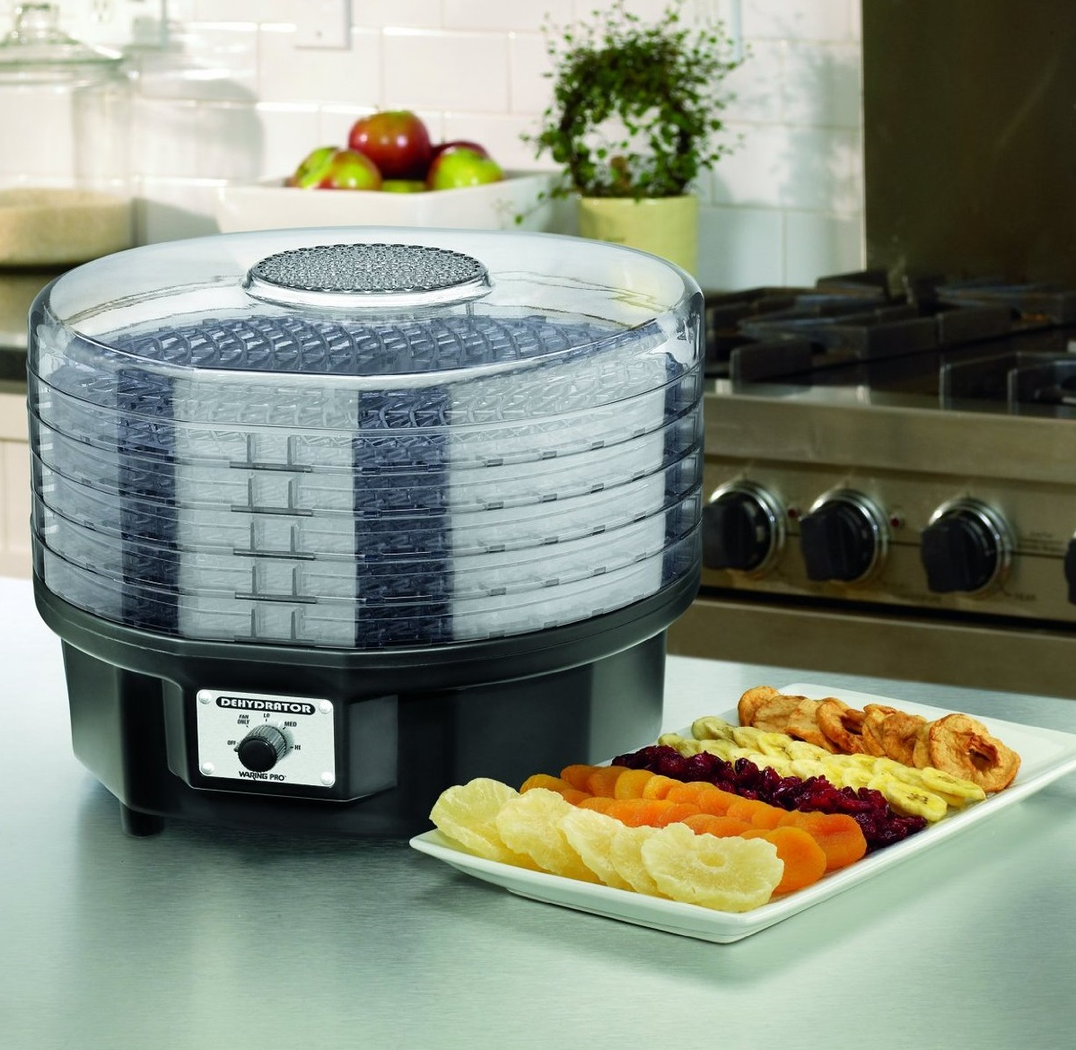 Waring Pro Food Dehydrator DHR30 with 5 Racks