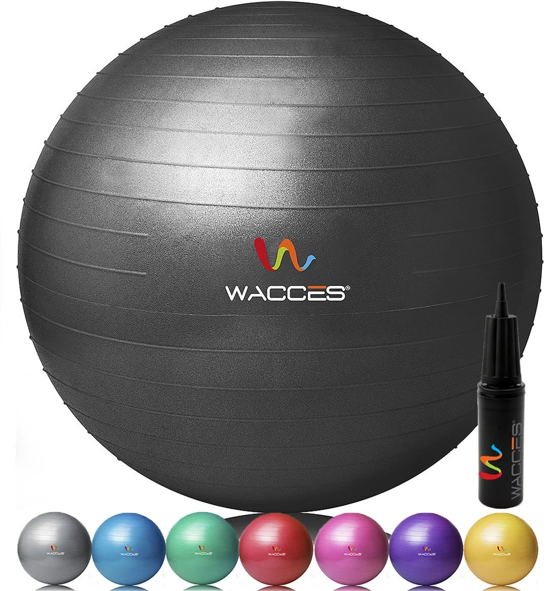 Wacces Fitness Ball for Yoga, Pilates and Core Strength Training