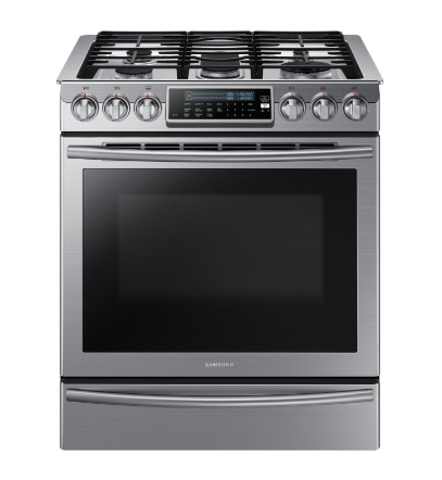 Samsung 5.8 cu. ft. Slide-In Gas Oven with True Convection and 5 Sealed Burners