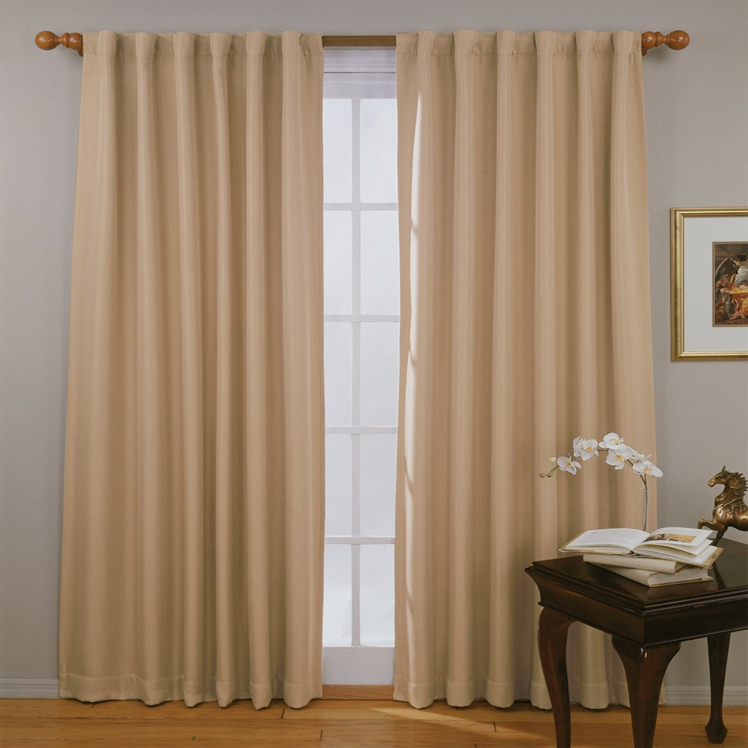 Eclipse Fresno Thermaweave Blackout Window Curtains - Single Pocket Top Panel