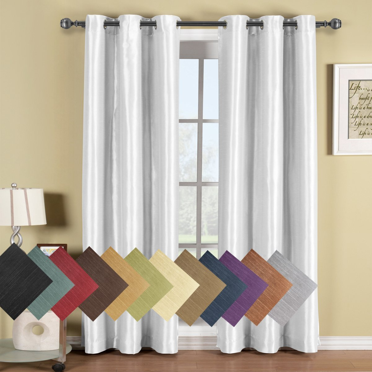 Royal Hotel Soho Top Grommet Blackout Window Curtains - Single Panel