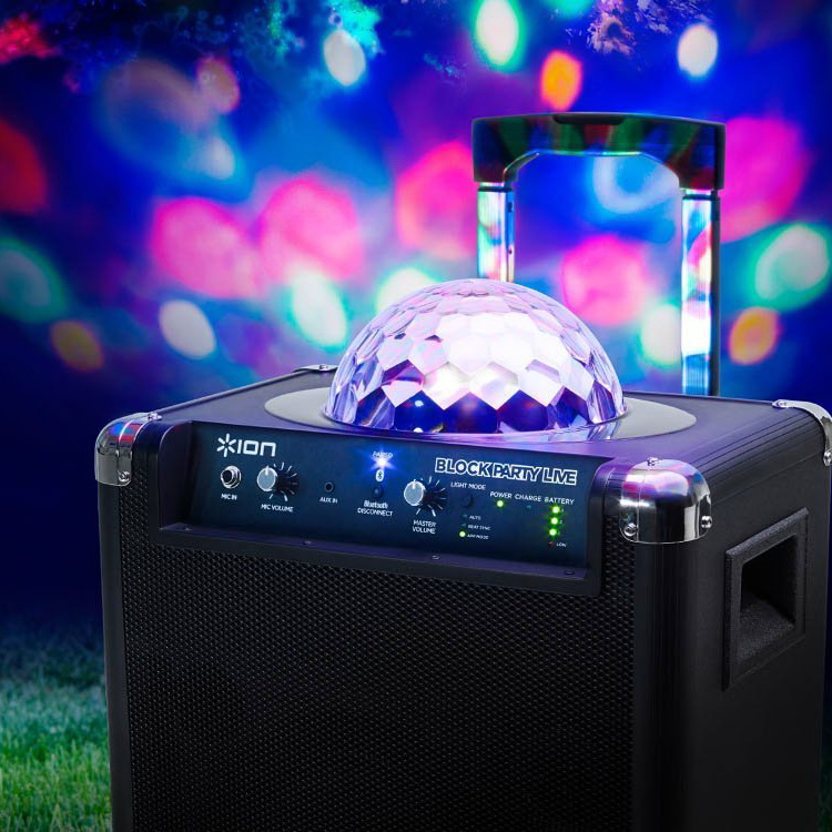 Ion Block Party™ Live Wireless Speaker System with Party Lights