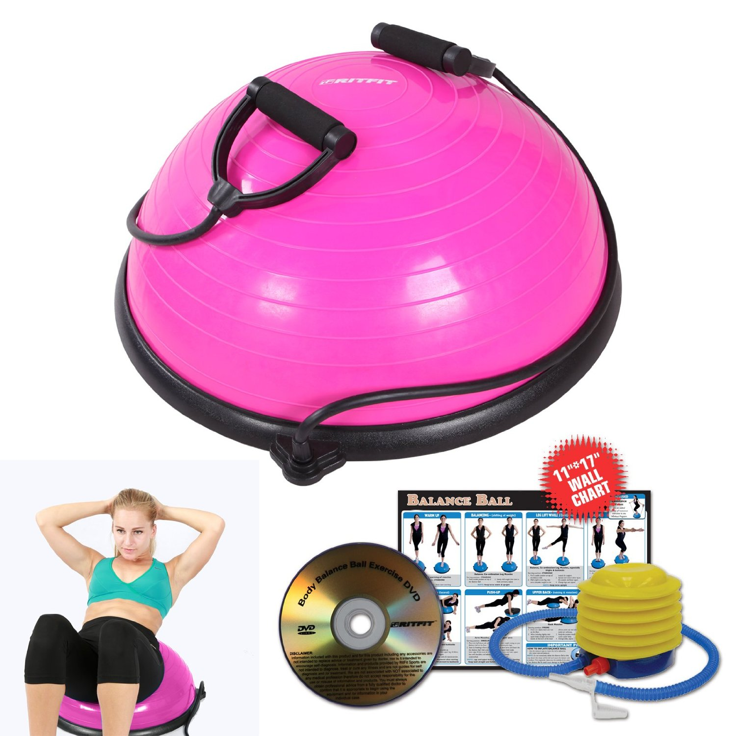 RitFit® Balance Ball Trainer Exercise Kit