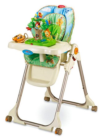 Fisher Price Rainforest Healthy Care Baby HighChair with Rainforest Toy