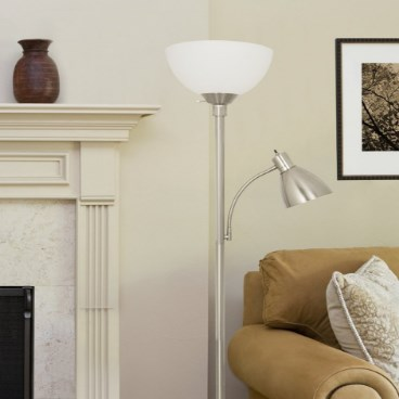 Light Accents Metal Floor Double Lamp