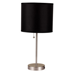 Ore International's Brush Steel Table Lamp with Shade