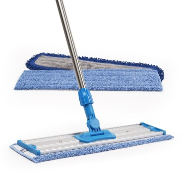 "Microfiber Wholesale 18"" Professional Microfiber Mop with Premium Mop Pads and Adjustable Steel Handle"
