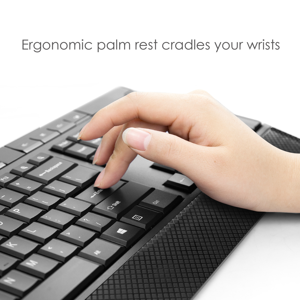 Anker CB310 Wireless Mouse and Ergonomic Keyboard Combo